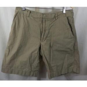 Banana Republic Striped Khaki Shorts - Size 34